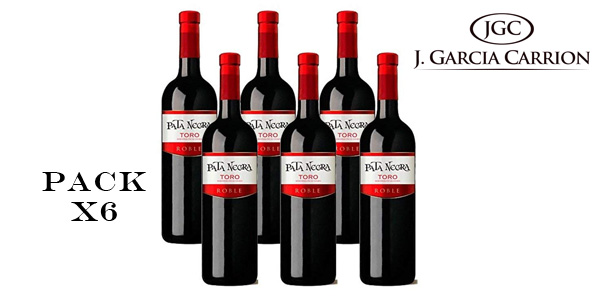 Pack de 6 Botellas de Vino tinto Pata Negra Roble D.O Toro barato en Amazon