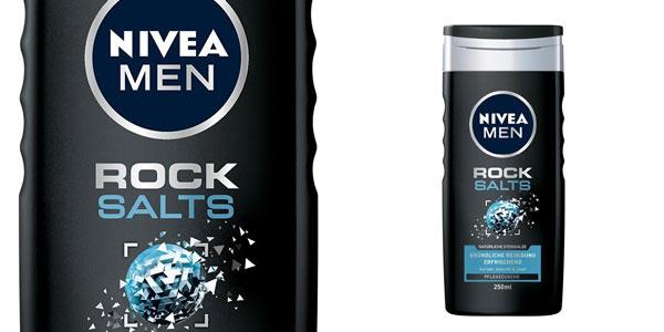 Pack x6 Gel de ducha Nivea Men Rock Salts chollo en Amazon