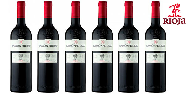 Pack de 6 botellas de vino tinto Ramón Bilbao Crianza (DO Rioja) de 2016 barato