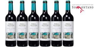Pack de 6 botellas vino tinto roble Viñas del Vero (2016) con D.O. Somontano barato