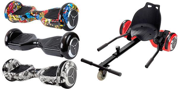 Pack Patinete eléctrico Hoverboard MR6 + RaceKart barato