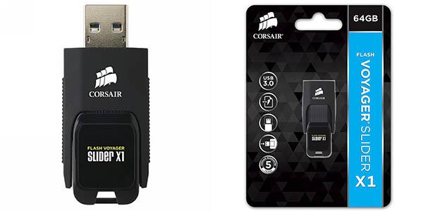 Memoria USB Corsair Flash Voyager Slider X1 de 64 GB