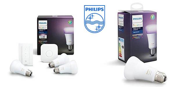 Philips Hue White and Color Ambiance kit de bombillas inteligentes barato