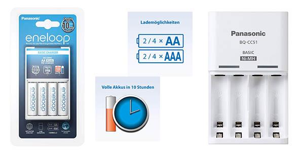 pilas AA Enelop con cargador Panasonic K-Kj18MCC40E oferta