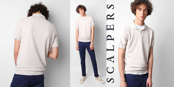 Polo Scalpers Darien en azul o en blanco para hombre chollo en Amazon