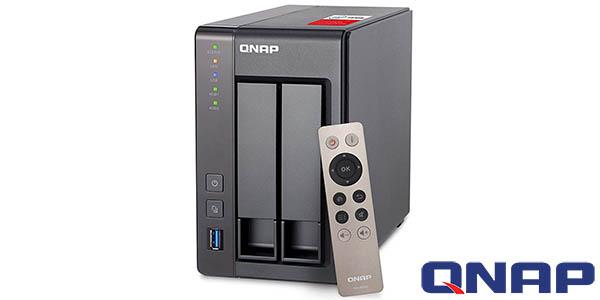 NAS QNAP TS-251 con 8 TB de capacidad (2 x Western Digital Red de 4 TB)