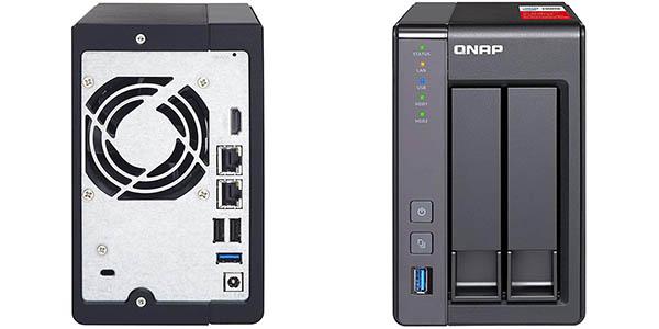 NAS QNAP TS-251 con 8 TB de capacidad (2 x Western Digital Red de 4 TB) en Amazon