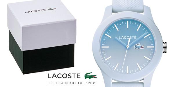 Reloj Lacoste Watches 2000989 de silicona azul pastel para mujer barato en Amazon