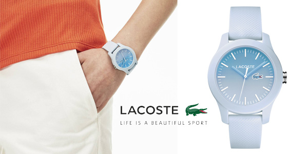 Reloj Lacoste Watches 2000989 de silicona azul pastel para mujer chollazo en Amazon