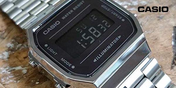 Reloj digital Casio unisex A168WEM-1EF chollazo en Amazon