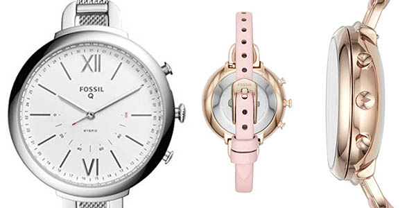 reloj elegante híbrido digital Fossil Q Annette chollo
