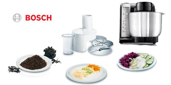 Robot de cocina Bosch MUM48A1 de 600W y 3,9L con 4 velocidades en color gris chollazo en Amazon