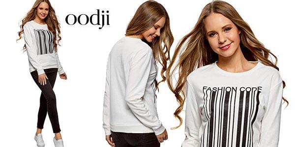 Suéter Oodji Ultra Fashion Code en color blanco para mujer barato en Amazon