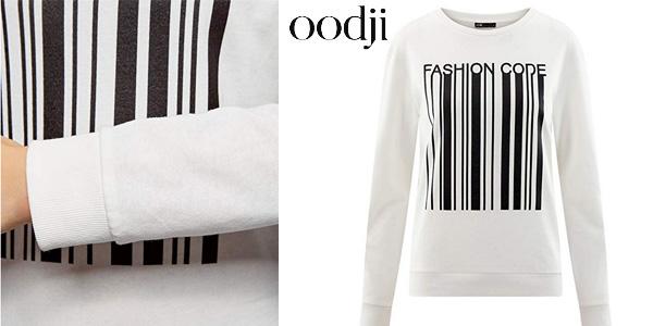 Suéter Oodji Ultra Fashion Code en color blanco para mujer chollo en Amazon