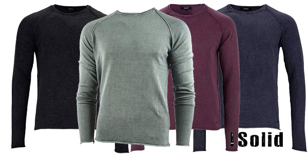 Suéter de manga larga !Solid Knit Malvin para hombre barato en Amazon