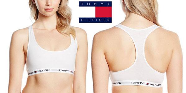 Tommy Hilfiger Bralette Sujetador Deportivo para Mujer