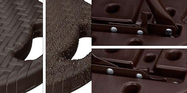 Pack de taburetes de bar Relaxdays Bastian plegables e impermeables de color marrón barato