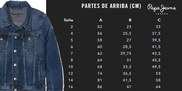 Tallas chaqueta vaquera Pepe Jeans Legendary azul denim para niños chollazo en Amazon
