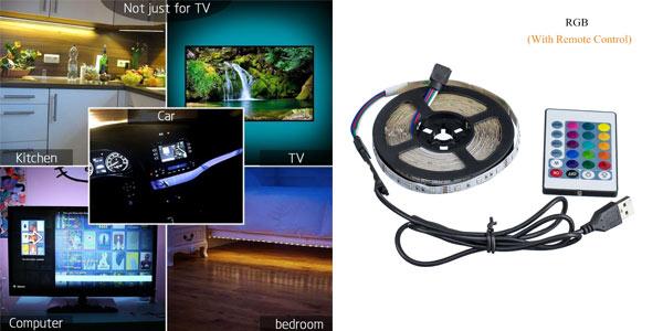Tira de luces LED con control remoto