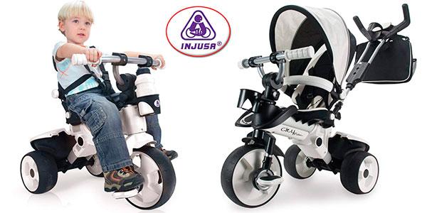 Chollo Triciclo evolutivo Injusa City Max blanco con control parental para bebés