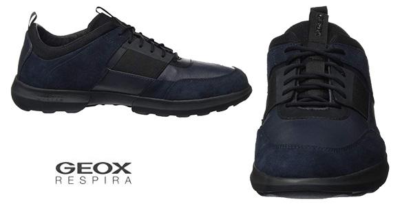 Zapatillas Geox Traccia en color azul/negro para hombre chollazo en Amazon