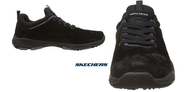 Zapatillas Skechers Larson-raxton en color negro para hombre chollazo en Amazon