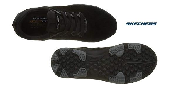 Zapatillas Skechers Larson-raxton en color negro para hombre chollo en Amazon