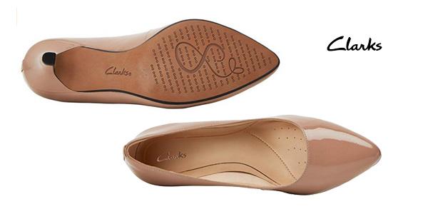 Zapatos de vestir Clarks Isidora Faye en color nude para mujer chollazo en Amazon