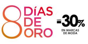 8 días de Oro en El Corte Inglés con descuentos en marcas de moda