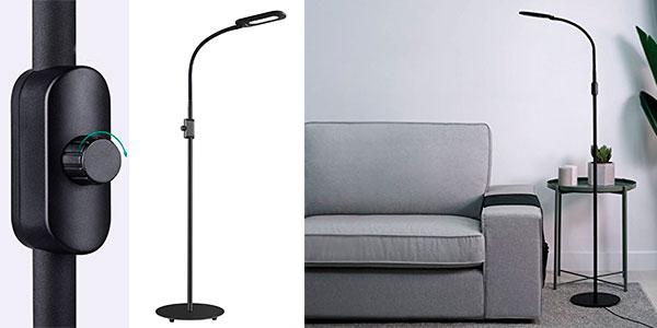 Chollo Lámpara de pie regulable Aukey LT-ST34 con control de brillo y cuello flexible