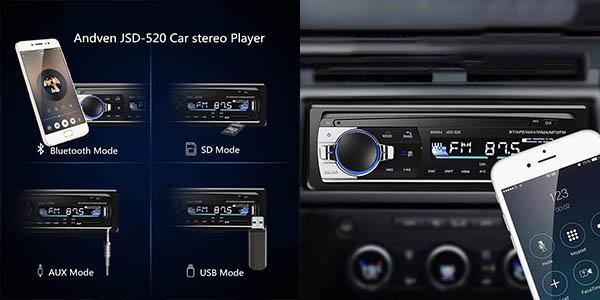 Autoradio Andven MP3 con Bluetooth en Amazon