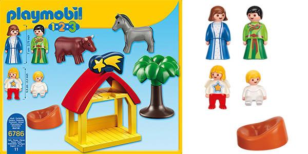 belén de Naivdad Playmobil con piezas grandes chollo