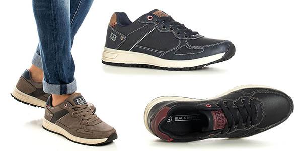 Black Barred Eduard zapatillas casuales baratas