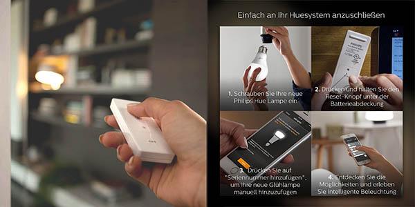 bombilla E27 LED Philips Hue White control remoto App móvil oferta