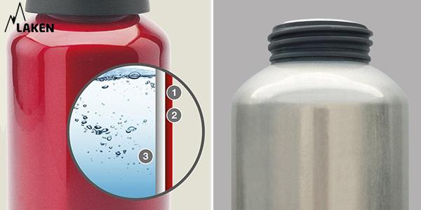 Botella de Aluminio Laken de boca ancha de 1L chollazo en Amazon