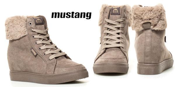 Botines con cuña Mustang Pikes en color gris para mujer baratos en eBay
