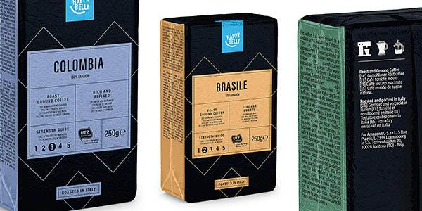 café molido sabor intenso Happy Belly relación calidad-precio genial