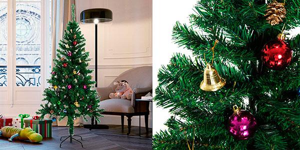Árbol de Navidad de 180 cm con decoración