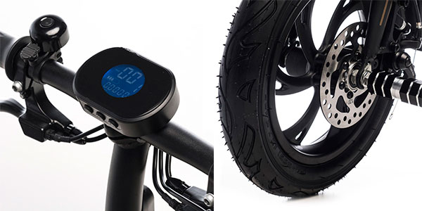 Chollo Bicicleta eléctrica mini plegable de 3 marchas