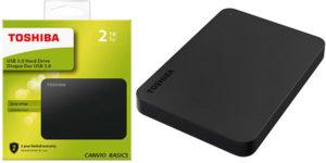 Chollo Disco duro portátil Toshiba Canvio Basics USB 3.0 de 2 TB