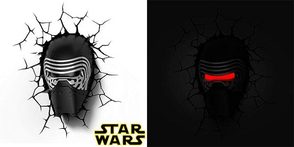 Chollo Lámpara LED 3D Star Wars Kylo Ren