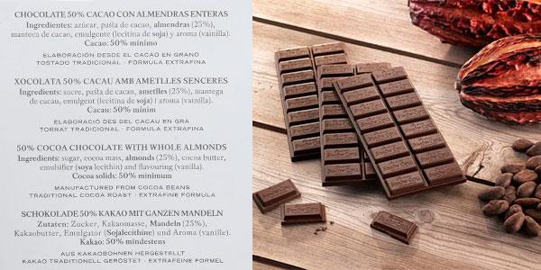Pack de 5 tabletas Simón Coll de chocolate 50% con almendras (200 g) barato