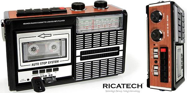 Radiocassette Ricatech PR85 grabador con USB barato