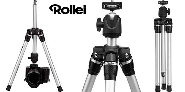 Chollo Trípode Rollei Compact Traveler Star S3 Plus de aluminio con cabezal esférico panorámico