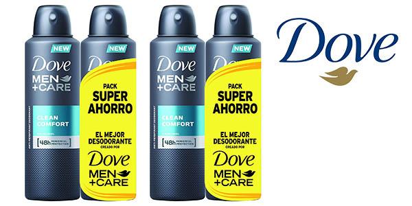 desodorante Dove Men Care Clean Comfort Pack oferta