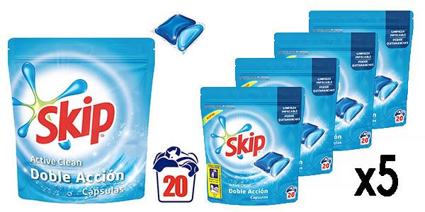detergente de ropa en cápsulas Skip Active Clean oferta