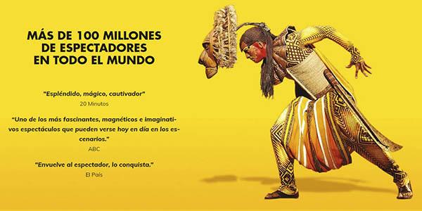 El Rey León Musical entradas baratas