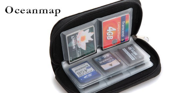 Estuche Oceanmap para guardar 22 tarjetas de memoria SD barato en Amazon