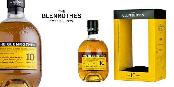 Estuche Whisky Glenrothes 10 años + 2 vasos barato en Amazon
