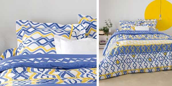 Funda nórdica + funda de almohada estampada en tejido 50% algodón hogar by Venca chollo en eBay